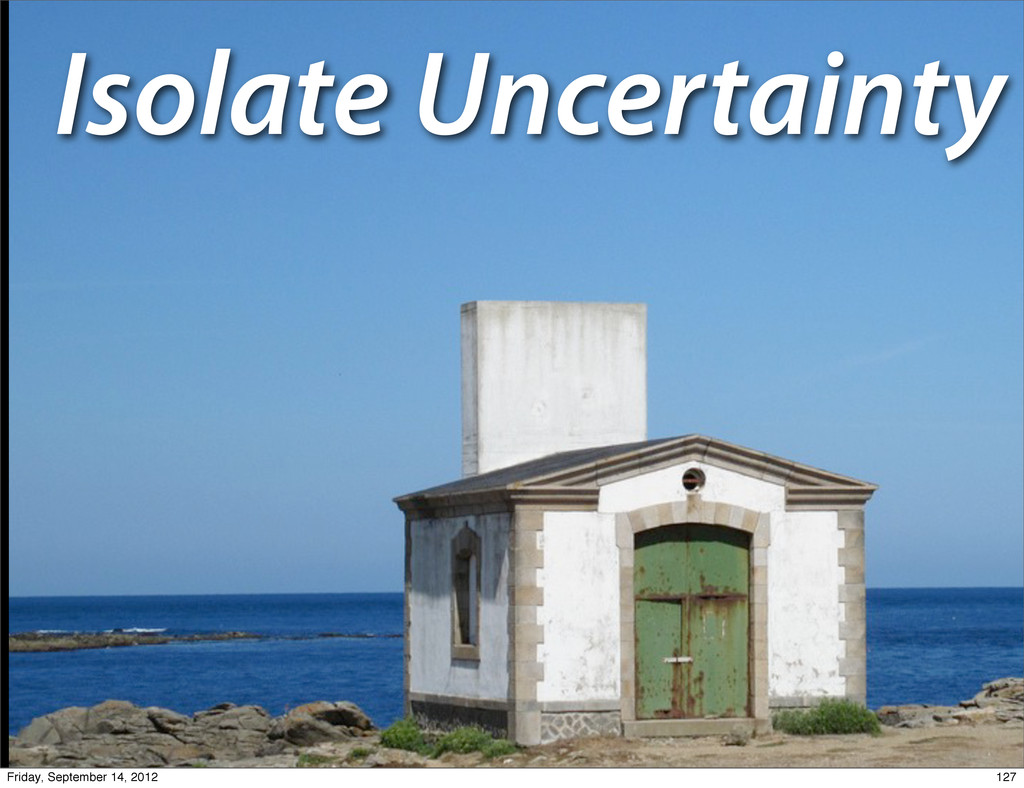 Isolate Uncertainty 127 Friday, September 14, 2...