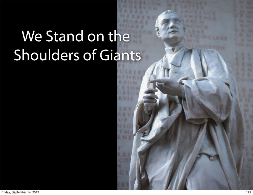 We Stand on the Shoulders of Giants 129 Friday,...
