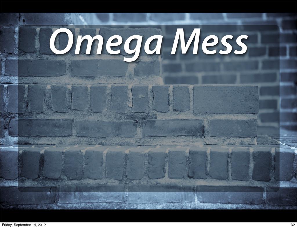 Omega Mess 32 Friday, September 14, 2012