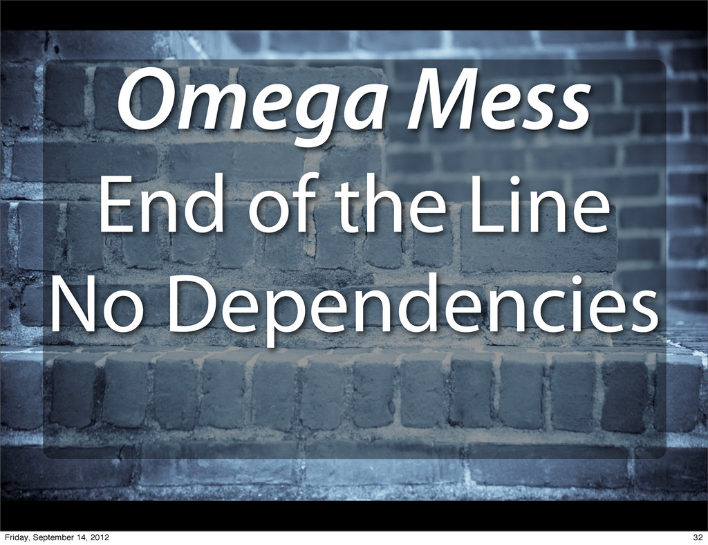 Omega Mess End of the Line No Dependencies 32 F...