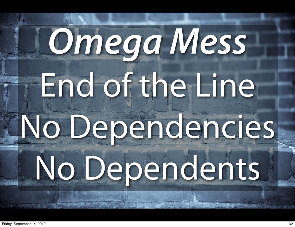 Omega Mess End of the Line No Dependencies No D...