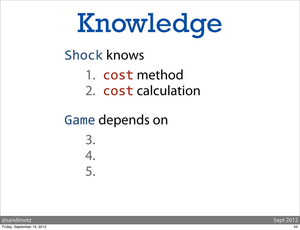@sandimetz Sept 2012 Knowledge Shock knows 1. c...