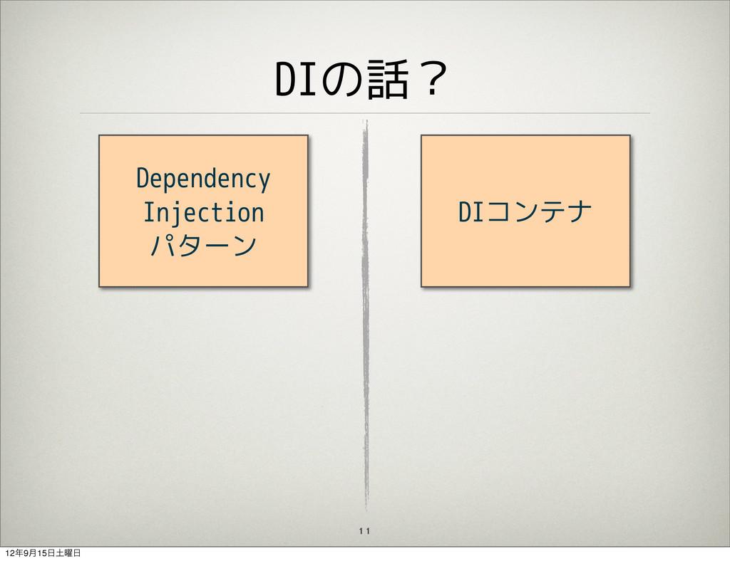 DIの話? 11 Dependency Injection パターン DIコンテナ 129݄...