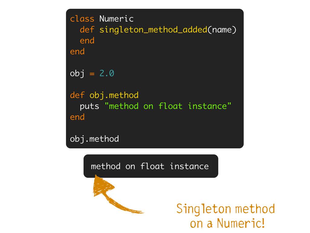 class Numeric def singleton_method_added(name) ...