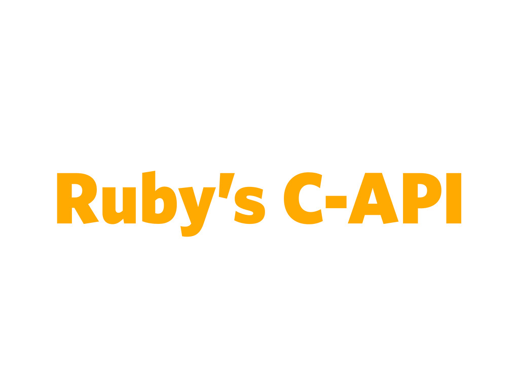 Ruby's C-API