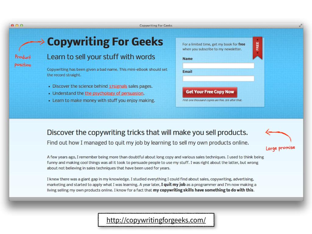 http://copywritingforgeeks.com/
