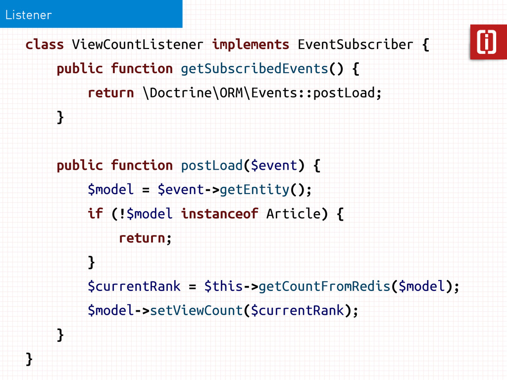 Listener class ViewCountListener implements Eve...