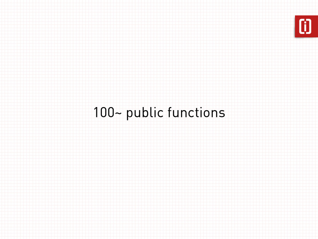 100~ public functions