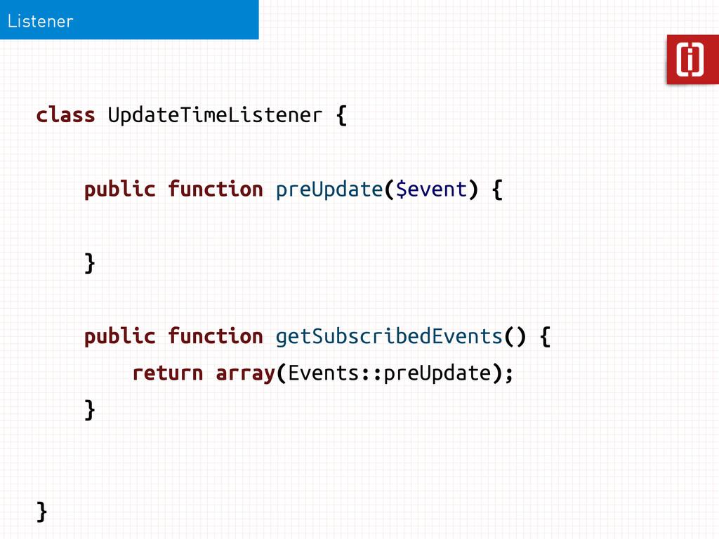 class UpdateTimeListener { Listener public func...