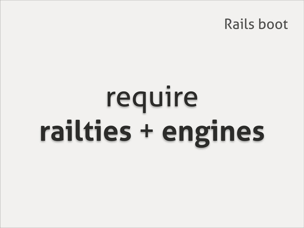 require railties + engines Rails boot