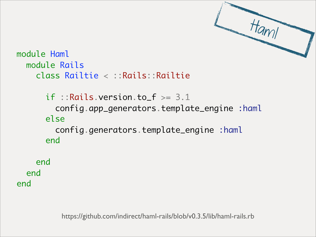 module Haml module Rails class Railtie < ::Rail...