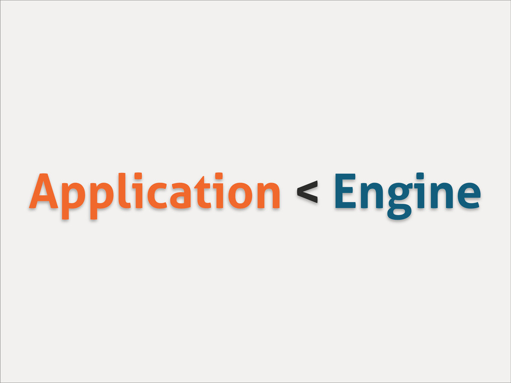 Application < Engine