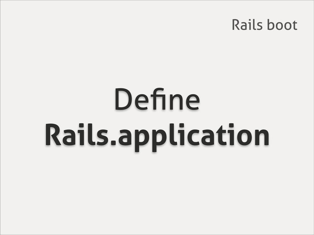 Define Rails.application Rails boot