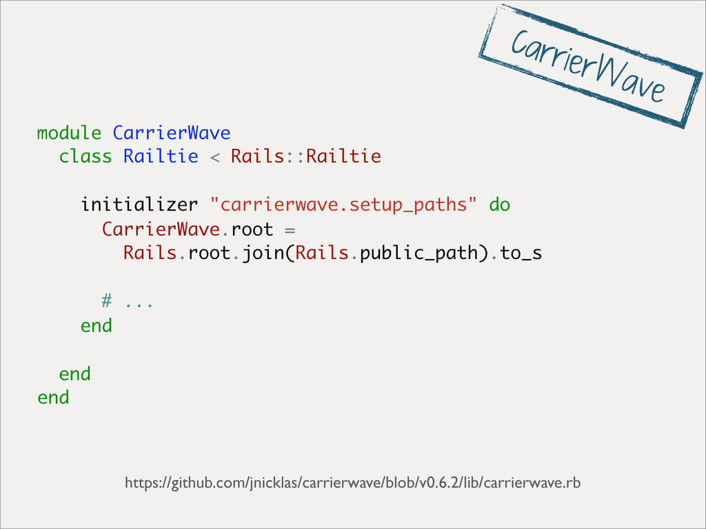 module CarrierWave class Railtie < Rails::Railt...