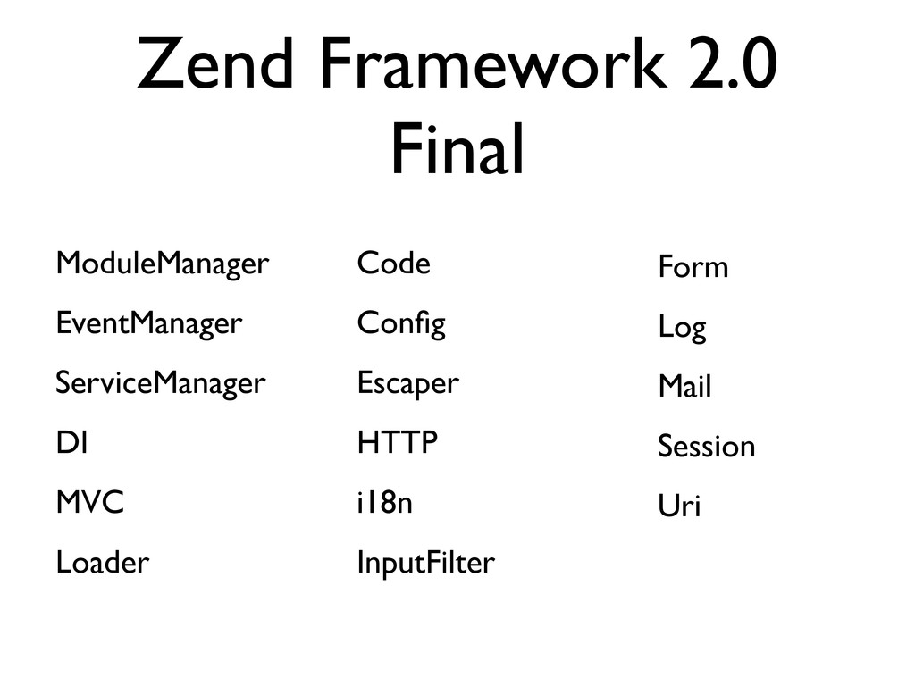 Zend Framework 2.0 Final ModuleManager EventMan...