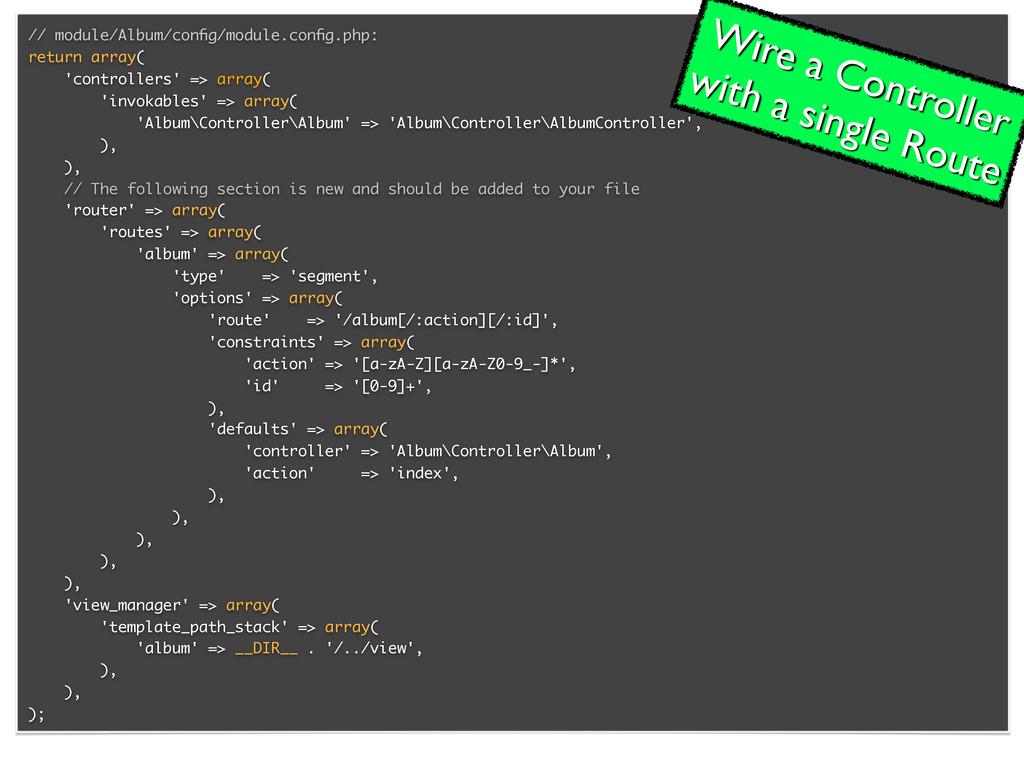 // module/Album/config/module.config.php: return ...