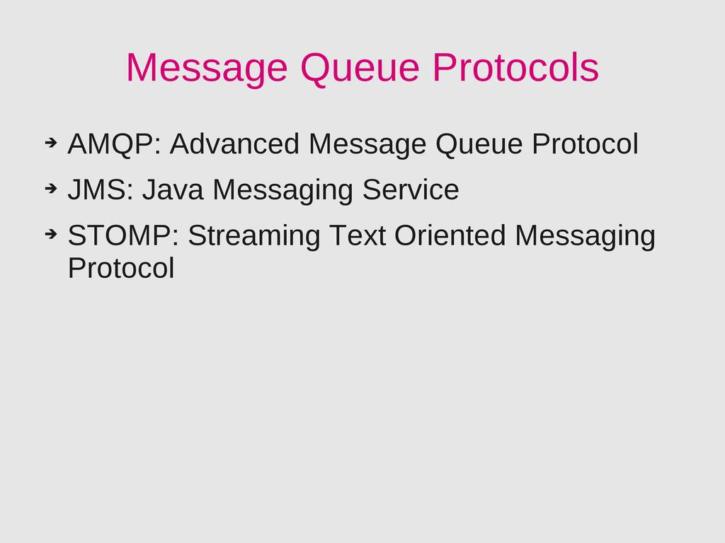 Message Queue Protocols ➔ AMQP: Advanced Messag...
