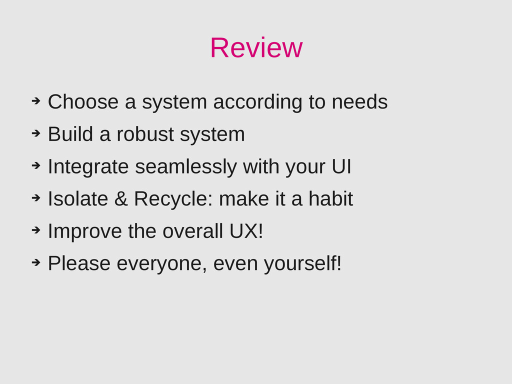 Review ➔ Choose a system according to needs ➔ B...