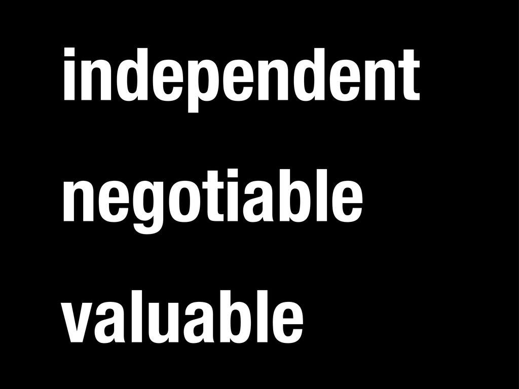 independent valuable negotiable