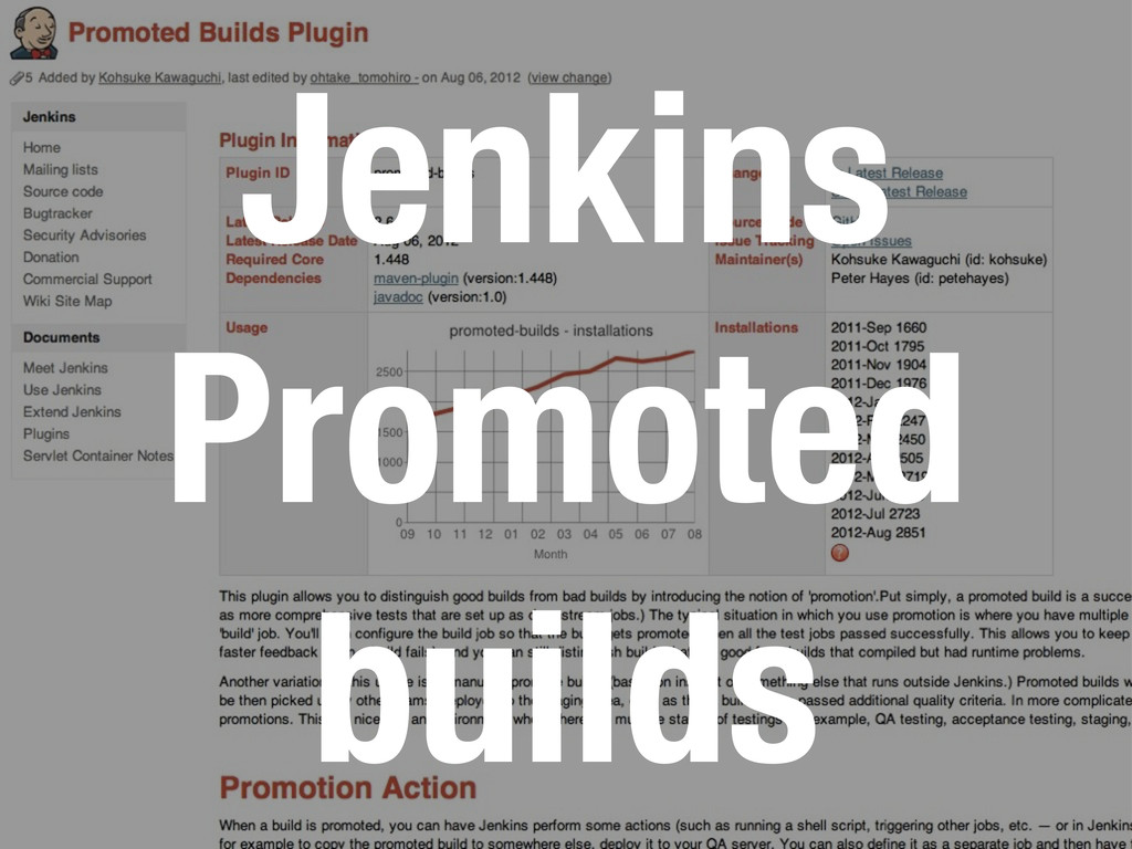 Jenkins Promoted builds
