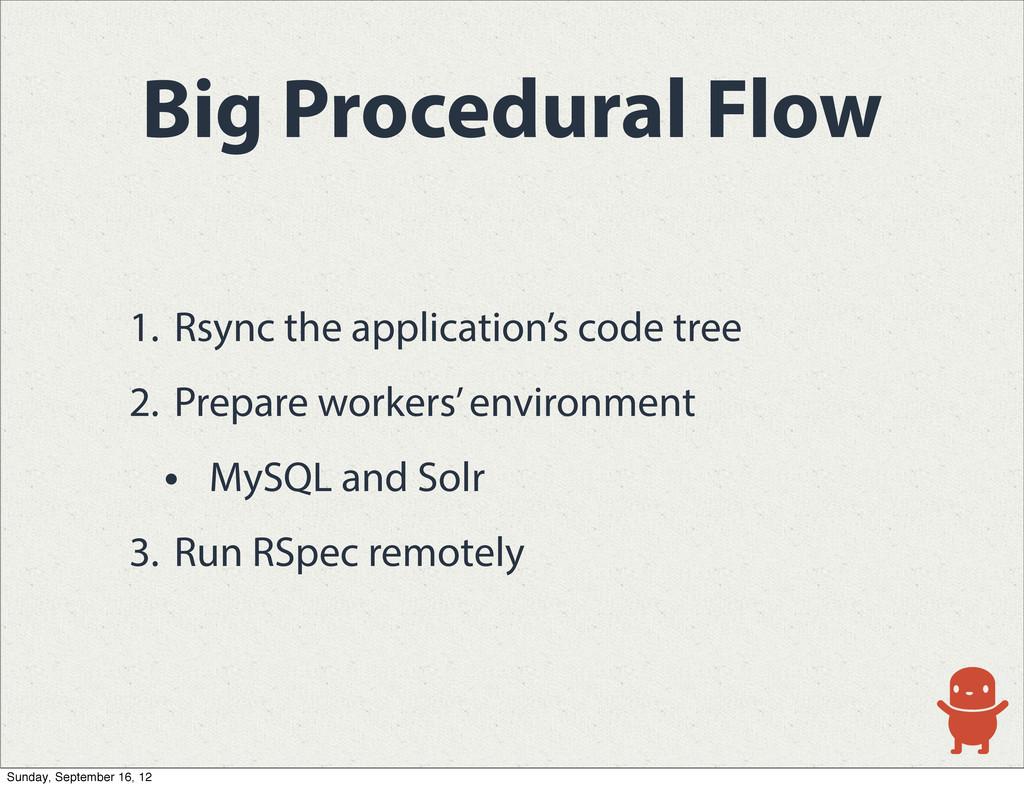 Big Procedural Flow 1. Rsync the application's ...