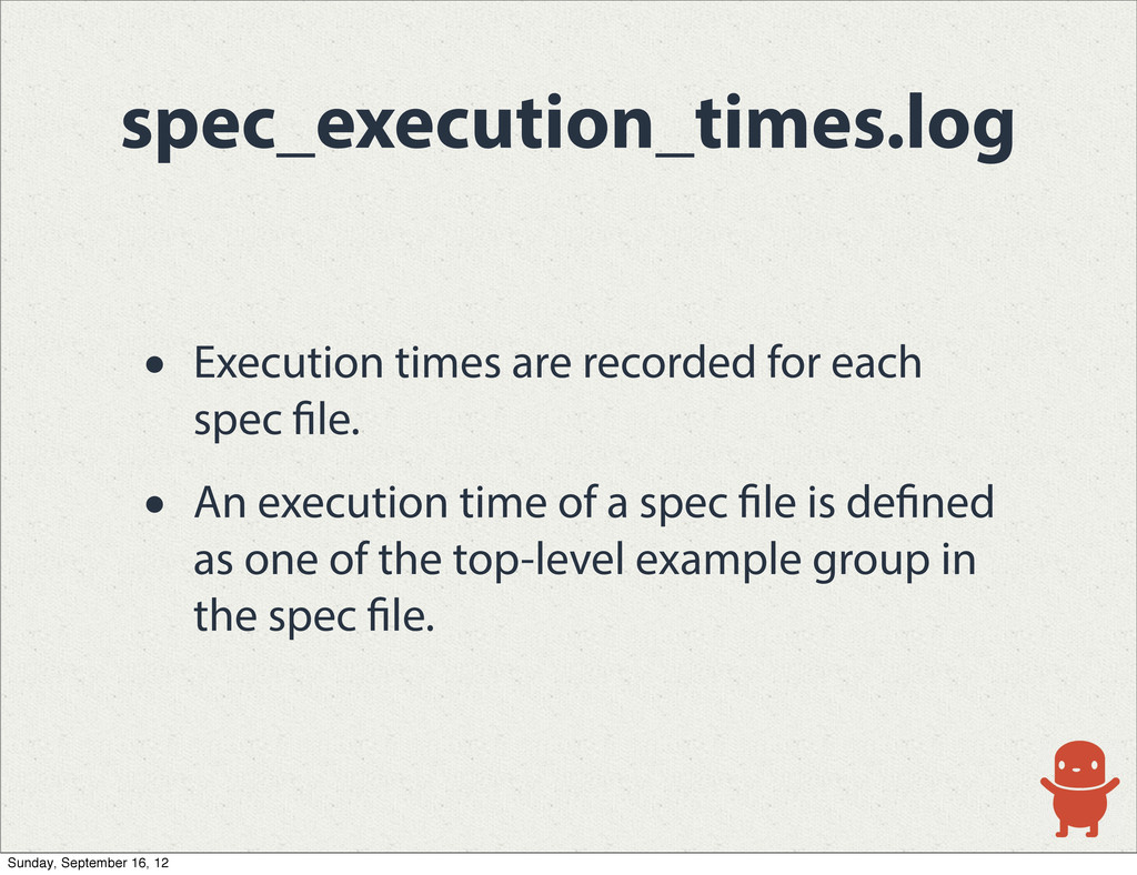 spec_execution_times.log • Execution times are ...