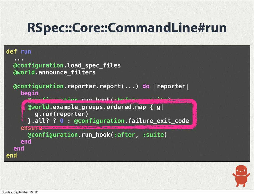 RSpec::Core::CommandLine#run def run ... @confi...