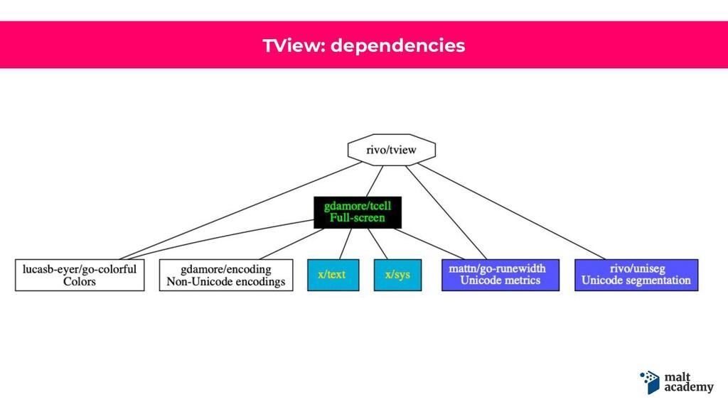 TView: dependencies