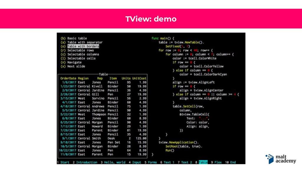 TView: demo