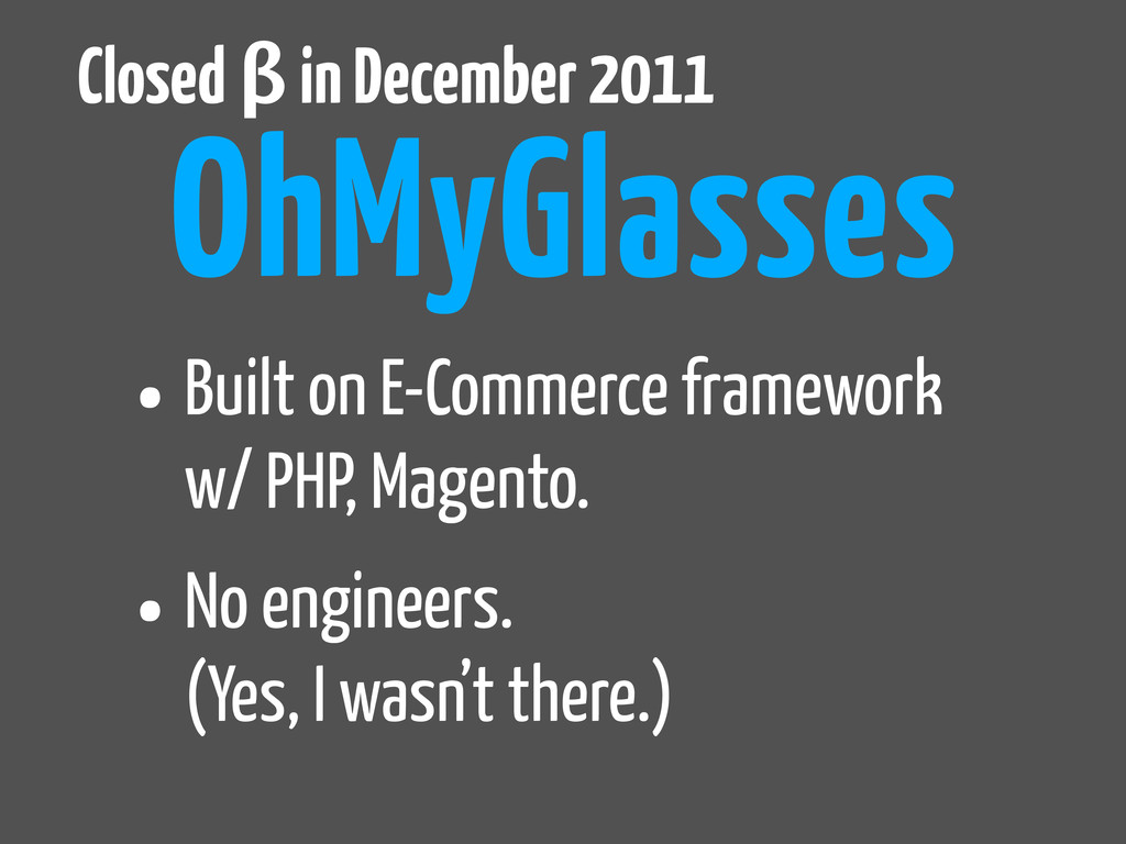 •Built on E-Commerce framework w/ PHP, Magento....