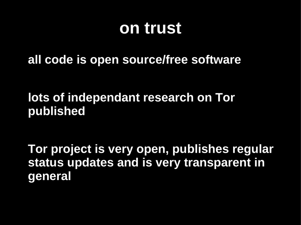 on trust all code is open source/free software ...