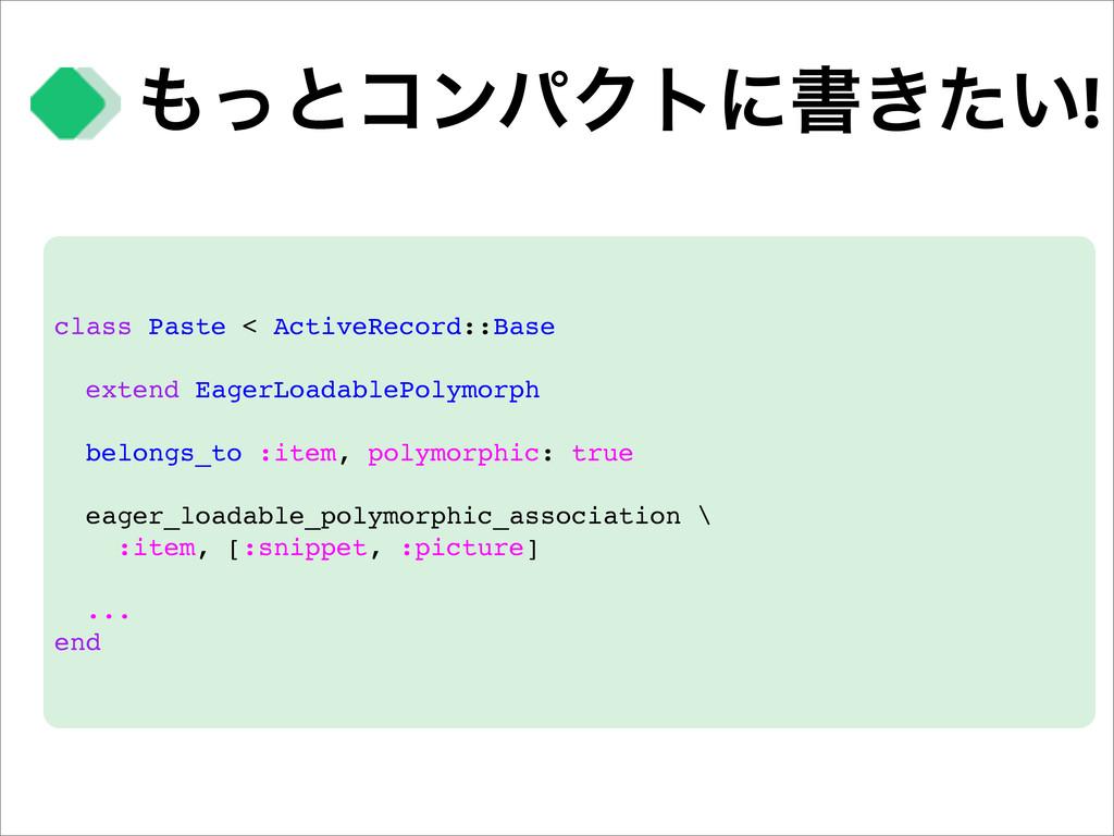 ͬͱίϯύΫτʹॻ͖͍ͨ! class Paste < ActiveRecord::Base...