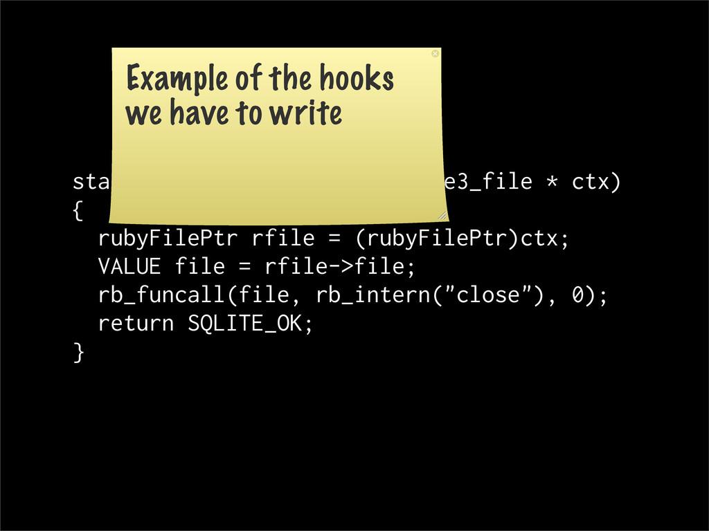 static int rbFile_close(sqlite3_file * ctx) { r...