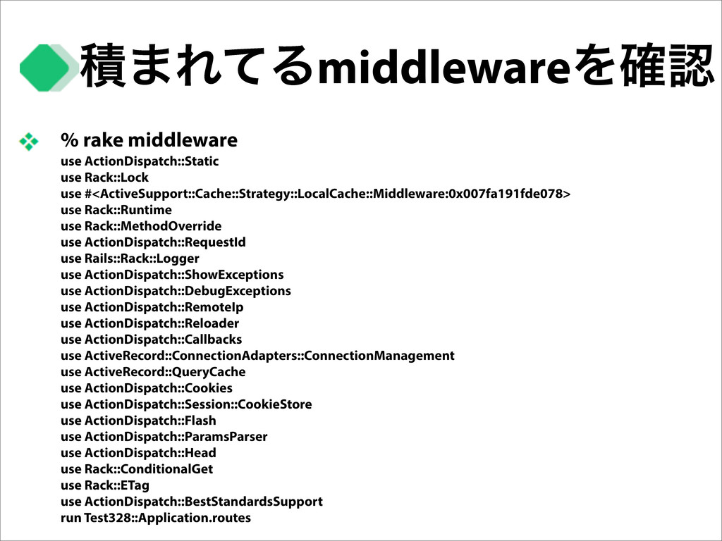 % rake middleware use ActionDispatch::Static us...