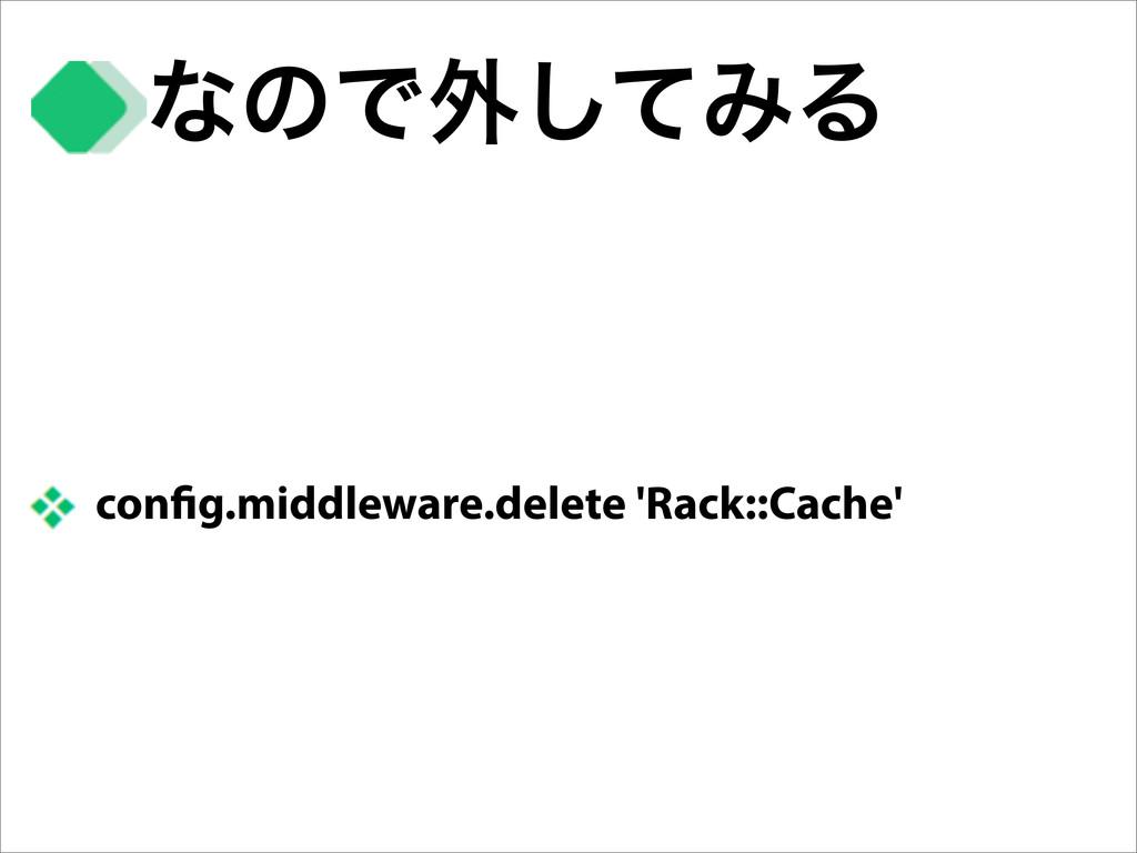 con g.middleware.delete 'Rack::Cache' ͳͷͰ֎ͯ͠ΈΔ