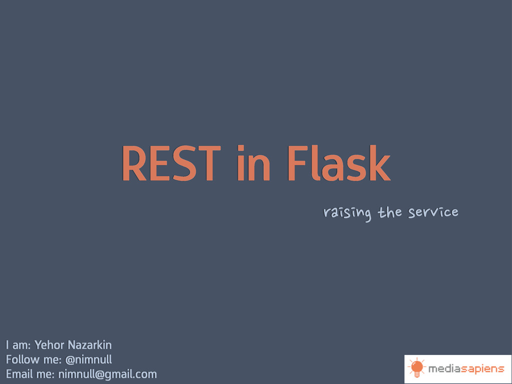 REST in Flask raising