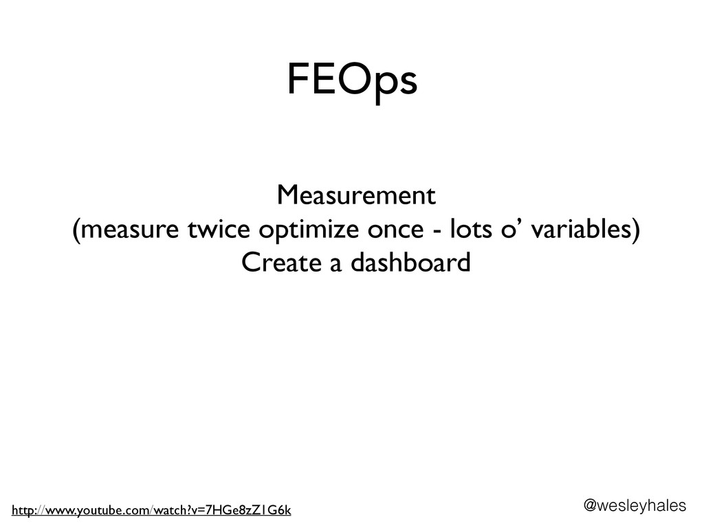 FEOps Measurement 	 