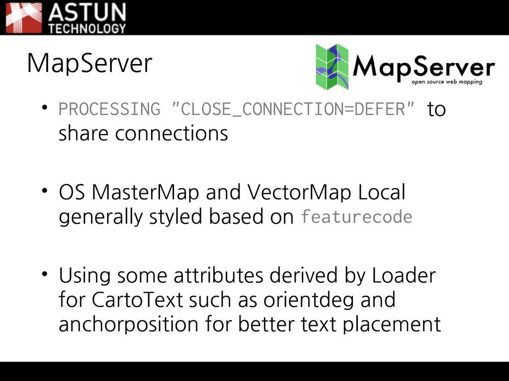 "MapServer • PROCESSING ""CLOSE_CONNECTION=DEFER""..."