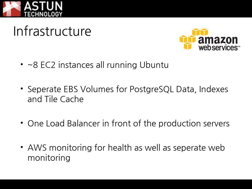 • ~8 EC2 instances all running Ubuntu • Seperat...