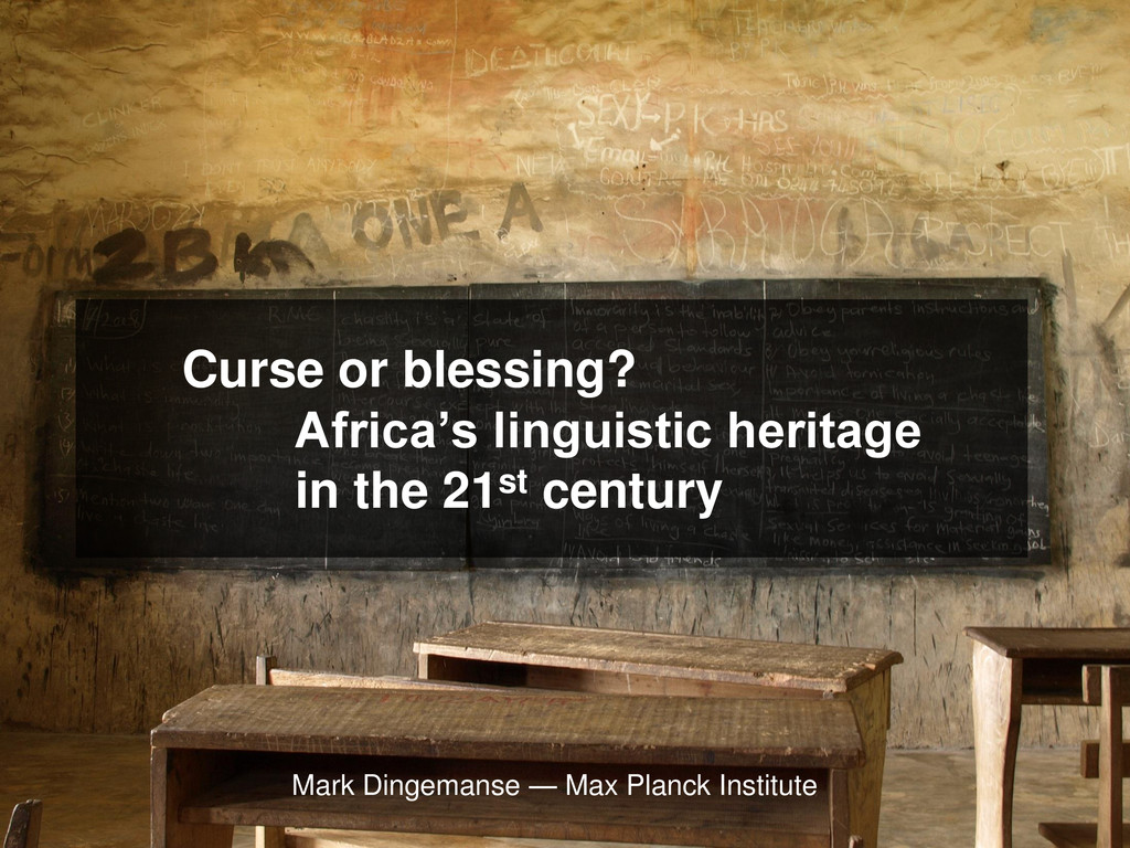 """Curse or blessing? Africa""""s linguistic heritage..."""