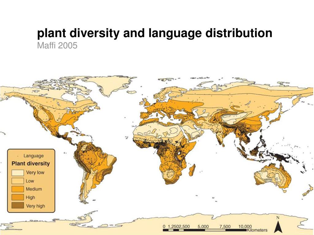 plant diversity and language distribution Maffi...