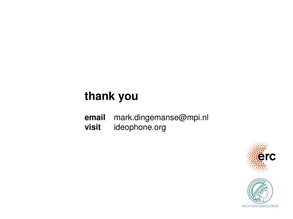 thank you email mark.dingemanse@mpi.nl visit id...