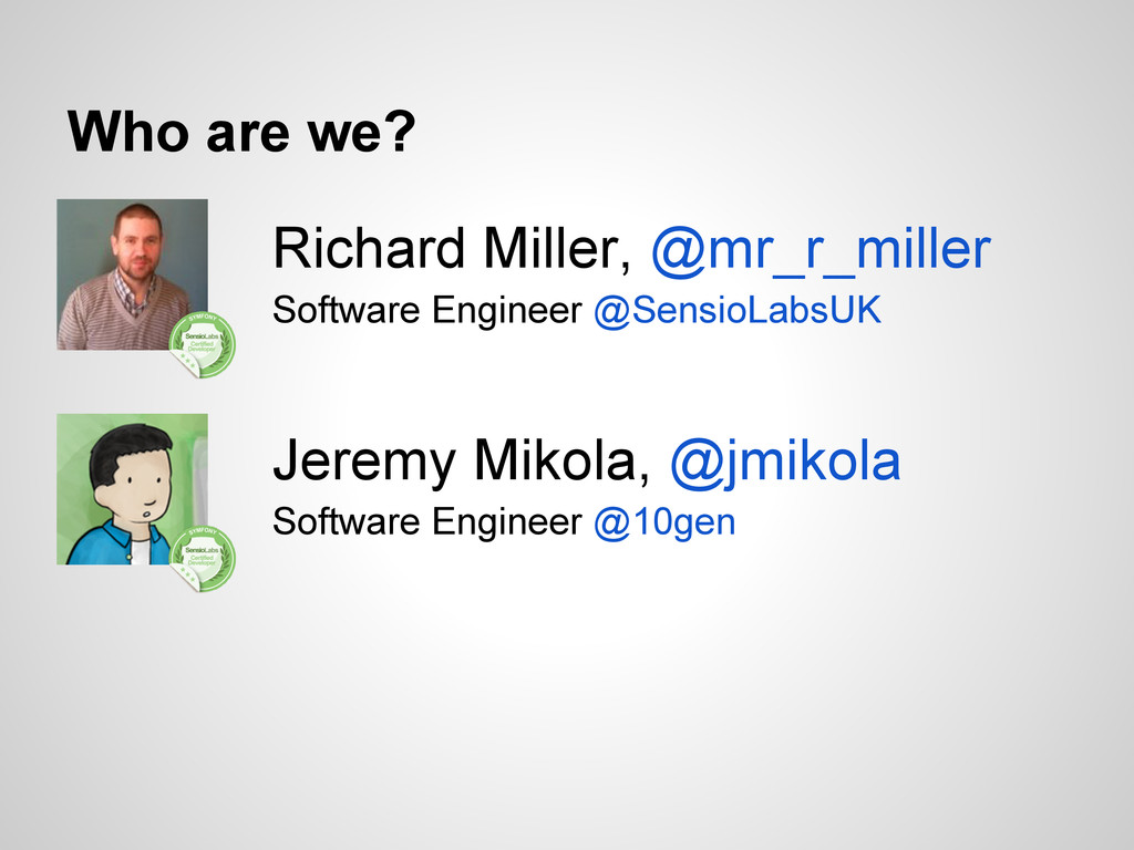 Richard Miller, @mr_r_miller Software Engineer ...
