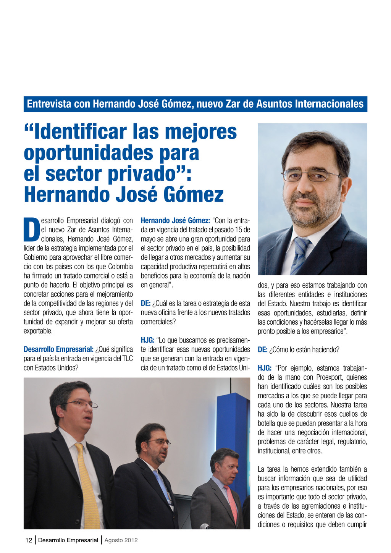"""12 Desarrollo Empresarial Agosto 2012 """"Identifi..."""