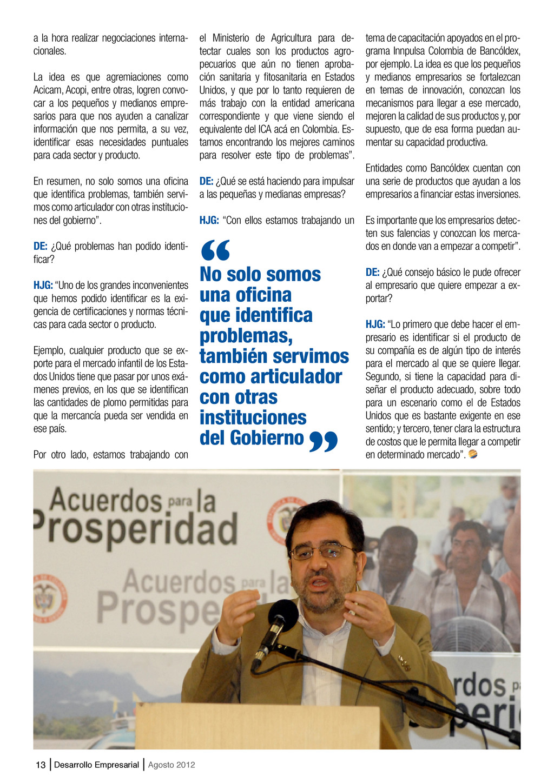 13 Desarrollo Empresarial Agosto 2012 a la hora...