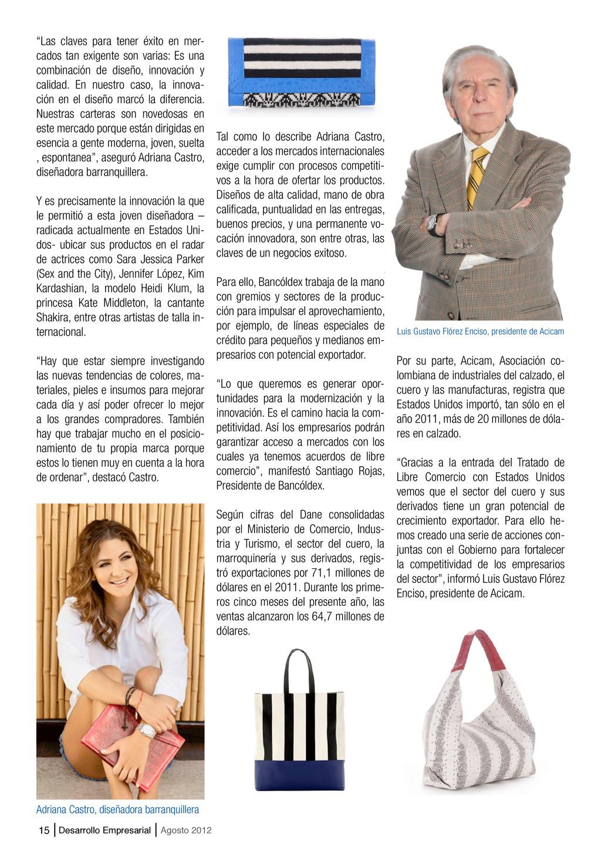"""15 Desarrollo Empresarial Agosto 2012 """"Las clav..."""
