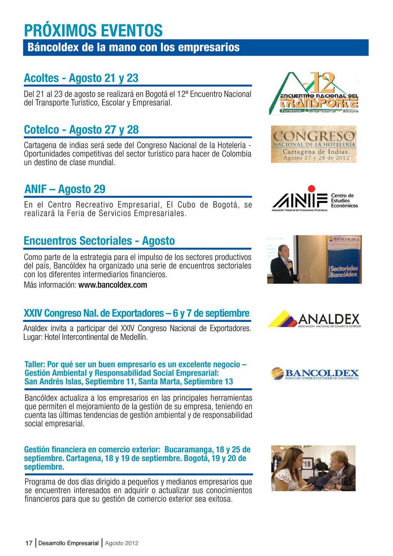 17 Desarrollo Empresarial Agosto 2012 Báncoldex...
