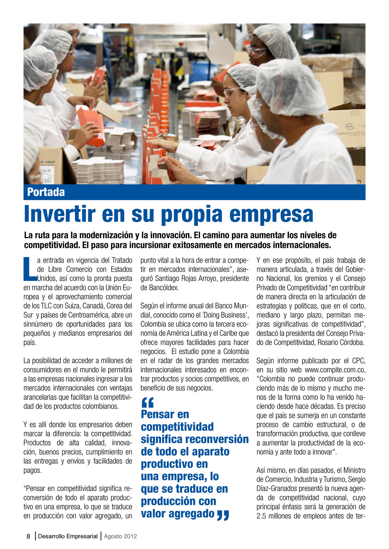 8 Desarrollo Empresarial Agosto 2012 Invertir e...