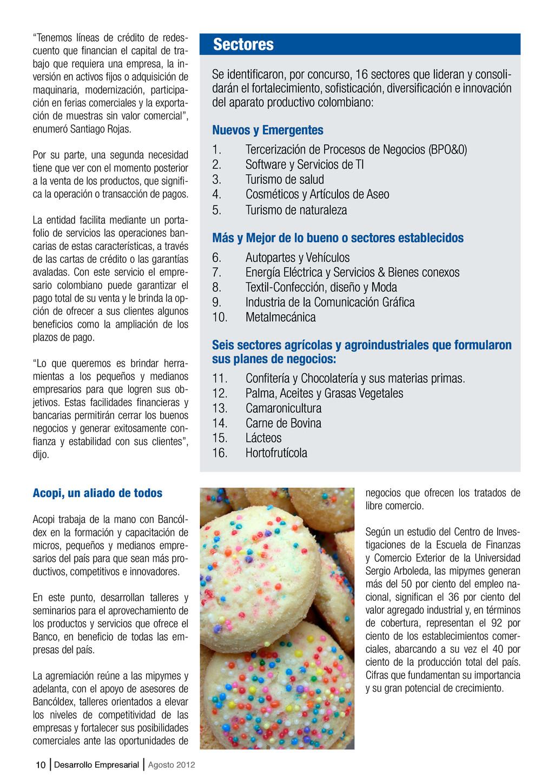 """10 Desarrollo Empresarial Agosto 2012 """"Tenemos ..."""