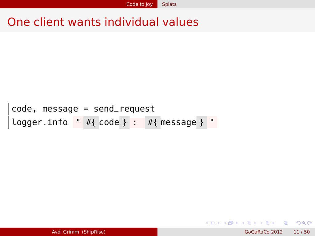 Code to Joy Splats One client wants individual ...